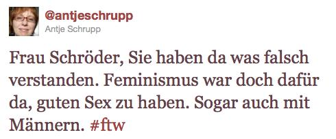 Antje Schrupp ueber Schroeder