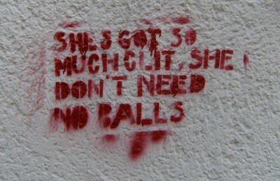 Clit-Graffiti gesehen im Mädchenblog